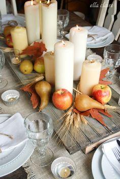 {Ella Claire}: Autumn Tablescape and Seasons of Home: Autumn Edition #tablescape #thanksgivingtable #thanksgivingdecor