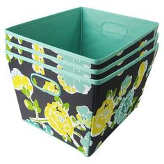 Fabric bins for closet or under your bed. One for medical supplies, one for cleaning supplies, one for socks/underwear