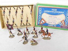 Historisch Kieler Zinnfiguren Flachfiguren Preußen Musketiere m. Gewehr OKT /291   eBay