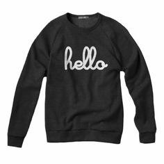 Hello Sweatshirt Unisex Black