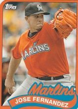 2014 Topps 1989 Topps Mini Die Cut  TM-80 Jose Fernandez - Miami Marlins 06dc2910a
