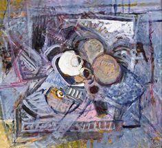 Nevill Johnson (1911-1999) STILL LIFE - THREE APPLES, 1991