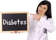 Doctor Holding a Sign That Says Diabetes