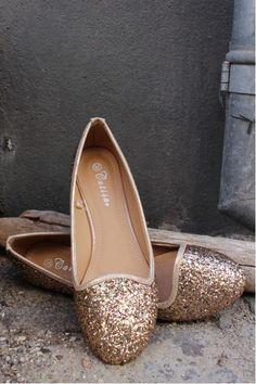 Ballerina sko med guld glimmer