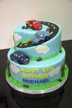 Great Ideas For Kids Birthday Cakes Cars Cake