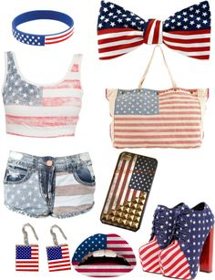 """Fourth of July outfit"" by yannon99 ❤ liked on Polyvore"