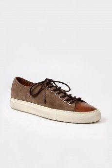 Buttero Suede Low Top Sneakers Taupe