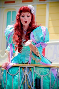 disney world pictures: Photo Ariel Disney World, Disney Princess Ariel, Disney Girls, Disney Love, Disney Magic, Disney Art, Disney Theme, Disney Stuff, Disneyland Face Characters