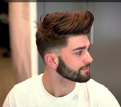 S hairstyle : some cool and trendy hairstyles for men - Mens Hairstyles With Beard, Quiff Hairstyles, Cool Hairstyles For Men, Haircuts For Men, Beard Styles For Men, Hair And Beard Styles, Short Hair Styles, Gents Hair Style, Beard Look