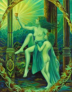 """""""Panacea, the Greek Goddess of healing, was the daughter of Aesculapius, the god of medicine. She was said to have a potion with which she healed the sick. This brought about the concept of the panacea in medicine, a substance meant to cure all diseases."""" At and quote from Emily Balivet"""