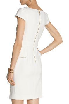 Cream stretch-wool crepe Zip fastening along back 98% wool, 2% elastane; lining: 91% silk, 9% elastane Dry clean