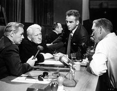 Richard Widmark, Spencer Tracy, Montgomery Clift and Burt Lancaster between shots of Judgment at Nuremberg (1961). Judgment At Nuremberg, Sir George Martin, Old Hollywood Actors, Hollywood Stars, Classic Hollywood, Pop Rock Music, Montgomery Clift, Uk Music, Movies
