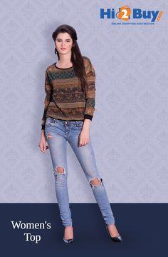 Women's Brown Georgette Top Hi2Buy.com. #Hi2buy #Top #OnlineShoppingDestination