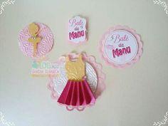 Apliques Tema Bailarina by Oliver Festas Infantis