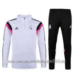 camisetas de fútbol baratas Adidas chaqueta entrenamiento Real Madrid 2016 blanco €35.99