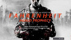 cool Indigo Prophecy Is Coming To PlayStation four In 1080p Tomorrow With Trophy Guidance