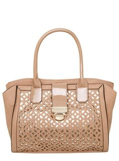 Juno nude perferated wing tote $99