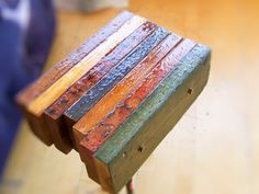 Reclaimed wood side table by RGFurniture on Etsy, $200.00