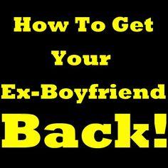 How To Get Your Ex Boyfriend Back! Learn How To Get Your Boyfriend Back. Priceless Tips On How To Get Your Ex Back. Stop Asking Yourself How To Get My Ex Back And Learn How To Get Back With Your Ex!   https://twitter.com/NeilVenketramen
