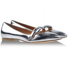 Shop #TheLIST on Harper's BAZAAR: 16 ways to sparkle and shine this holiday season - Marc by Marc Jacobs silver pointed toe flats