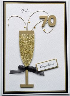 A commissioned 70th birthday card for a friend. Inspired by card found on cardella.co.uk.