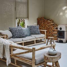 Lazy Sofa / wooden sofa / boho decor / sukha amsterdam