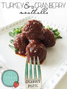 Crock Pot Turkey & Cranberry Meatballs — A perfectly de{light}full tailgating and turkey day appetizer!