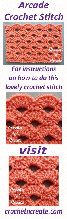 Free written crochet tutorial on how to crochet the arcade stitch. #crochet