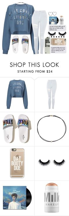 """°• those wednesday feels•°"" by take-me-higher ❤ liked on Polyvore featuring Miss Selfridge, Topshop, Hollister Co., Dogeared, Casetify and MILK MAKEUP"