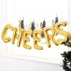 CHEERS balloons / Party decor / Foil balloons / Letter balloons