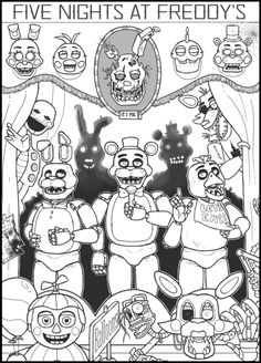 fnaf coloring pages free 7 Best Coloring pages images | Coloring book, Fnaf coloring pages  fnaf coloring pages free