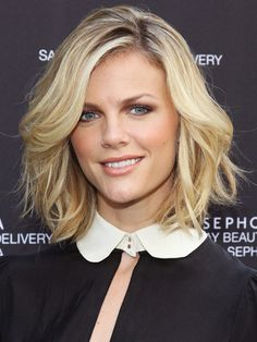 medium length hair, blonde. I think I like this length better.