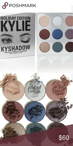Holiday Edition Kyshadow Beautiful limited holiday edition eye shadow from Kylie cosmetics!! Has a great assortment from neutral colors to your metals. Kylie Cosmetics Makeup Eyeshadow