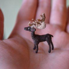 Micro-crochet Stag by KimLCrochets