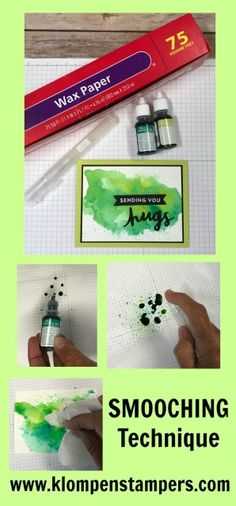 How to do the Smooching Technique using Stampin' Up! Reinkers and the Lovely Inside & Out Bundle