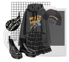 """""""wtf"""" by nymphyumoniwa ❤ liked on Polyvore featuring Polaroid, Boohoo and Dr. Martens"""