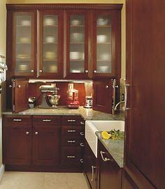 bifold appliance garage doors Kitchen Ideas for Small Kitchens Appliance Cabinet, Kitchen Appliance Storage, Appliance Garage, Small Kitchen Appliances, Kitchen Cabinets, Home Appliances, Bosch Appliances, Cooking Appliances, Dark Cabinets