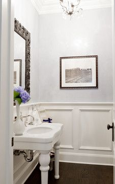 Recessed Panel Wainscoting Bathroom Design Ideas, Pictures, Remodel, and Decor