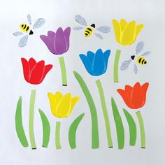 GelWonder | Window Clings | Large Bag of Spring Tulips | Spring | Can be used on any non-porous surface | www.homearama.co.uk