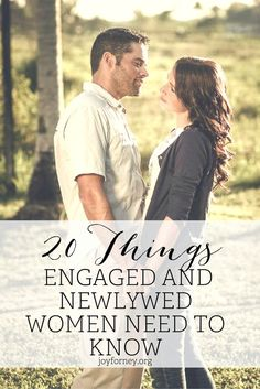 If you are engaged or newlywed, these are the 20 things you need to know right now! These are great and encouraging tips to bless your marriage!