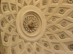 Beautifully sculpted ceilings grace San Luigi dei Francesi church in Rome