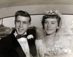 Vintage 1950s Wedding Day