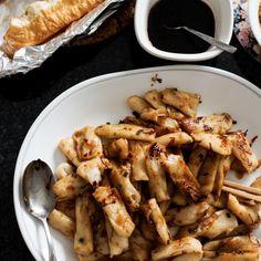 rice rolls stir-fried in spicy X.O. paste.