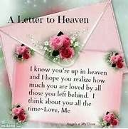 letter to heaven.... | DEATH & MISSING Loved Ones :'-( | Pinterest