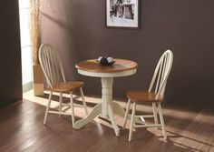 Nice Kinver Buttermilk Dining Table+ 2 Windsor Dining Chairs. Round Wood Slices Small Kitchen Table SetsROUND ...
