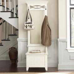 """$580; Liberty Furniture Hall Tree  Hall Tree Base26.1"""" H x 24.76"""" W x 17.99"""" D56.35 lbs Hall Tree Mirror51.89"""" H x 26.26"""" W x 2.52"""" D29 lbs"""