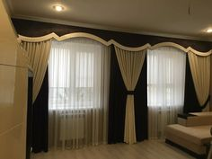 Living room modern classic window treatments 46 ideas for 2019 Tall Curtains, Home Curtains, Modern Curtains, Living Room Floor Plans, Big Living Rooms, Living Room Decor, Trendy Living Room Wallpaper, Classic Curtains, Classic Window
