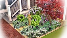 Shady Nook Garden Plan  Brought to you by Lowe's Creative Ideas  This 6x6-ft. garden bed
