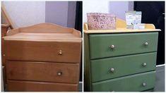 Βάφουμε τα έπιπλα μελαμίνης με Miss Mustard Seed's Milk Paint! - The Paintbox Smart Furniture, Painted Furniture, Milk Paint, Dresser As Nightstand, Dining, Table, Room, Crafts, House