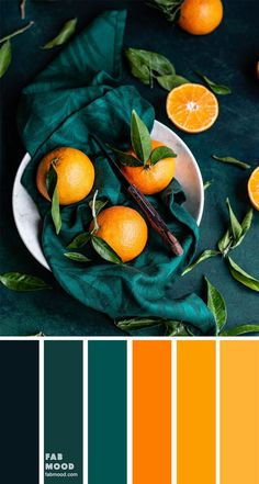 Orange Color Palettes, Color Schemes Colour Palettes, Green Colour Palette, Teal Colors, Color Combos, Orange Palette, Orange Color Schemes, Red Color, Colour Combinations Interior